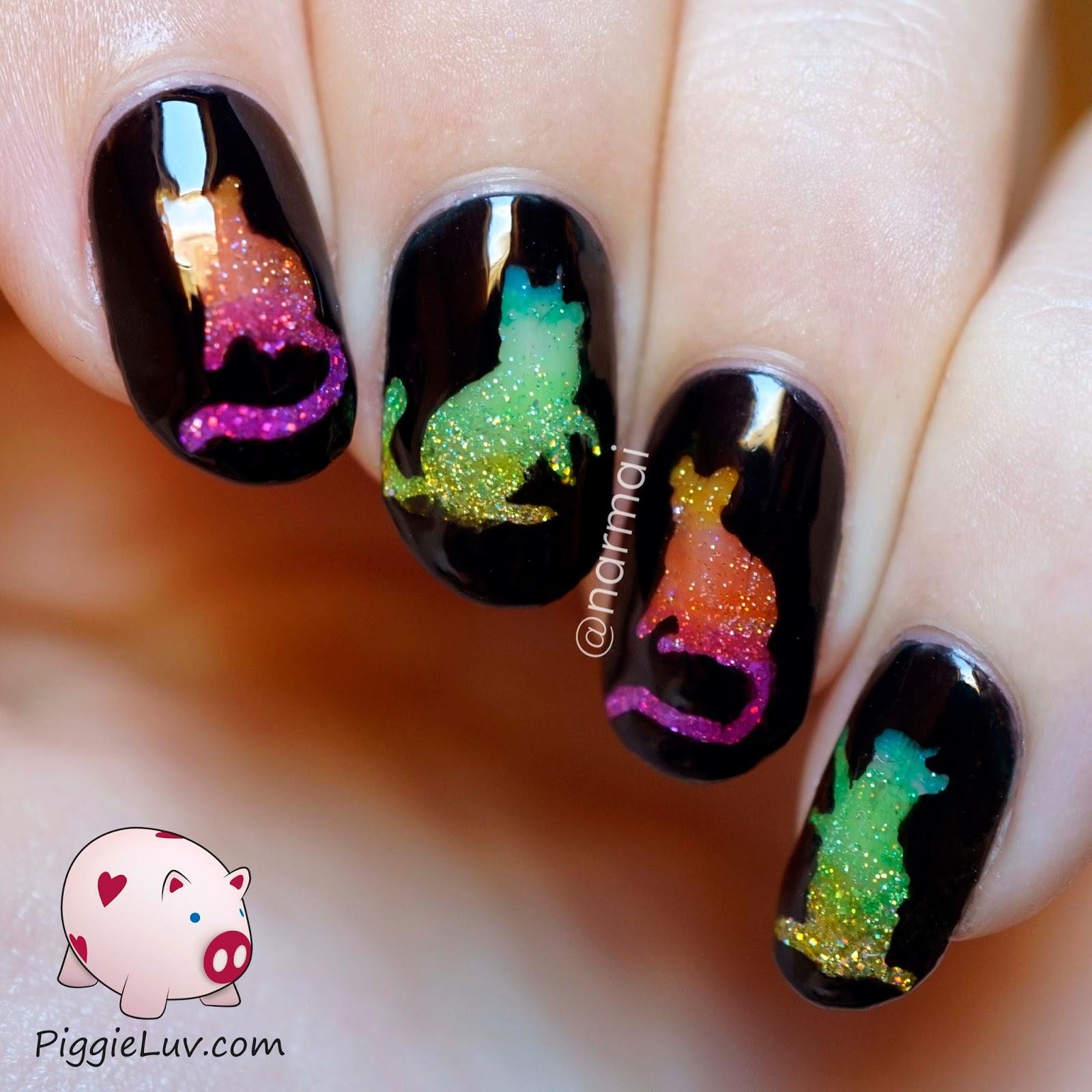 Nail Design Rainbow Nail Tips