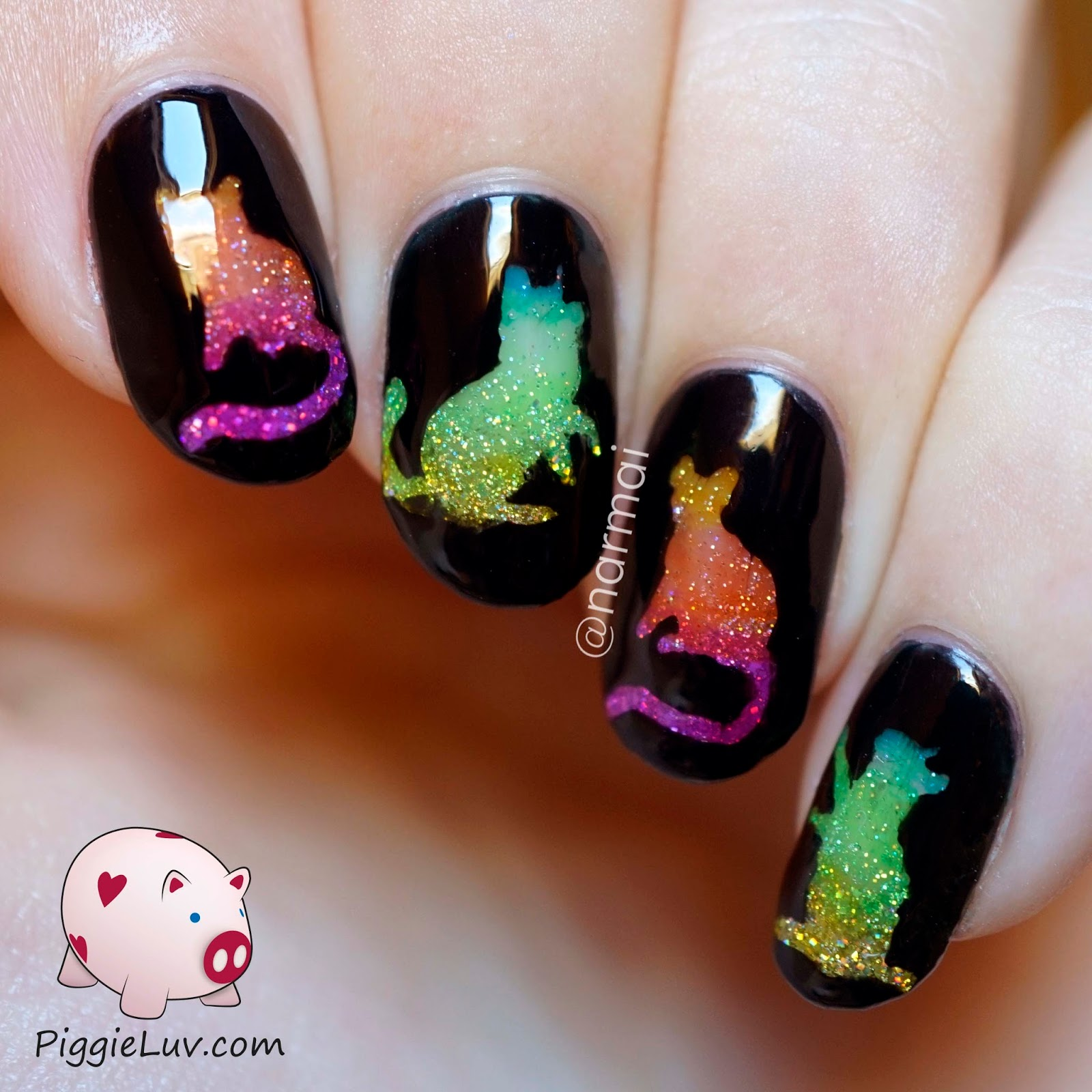 Piggieluv Rainbow Bubbles Nail Art: 20 Purrfect Nail Art Ideas For The Proud Cat Lady