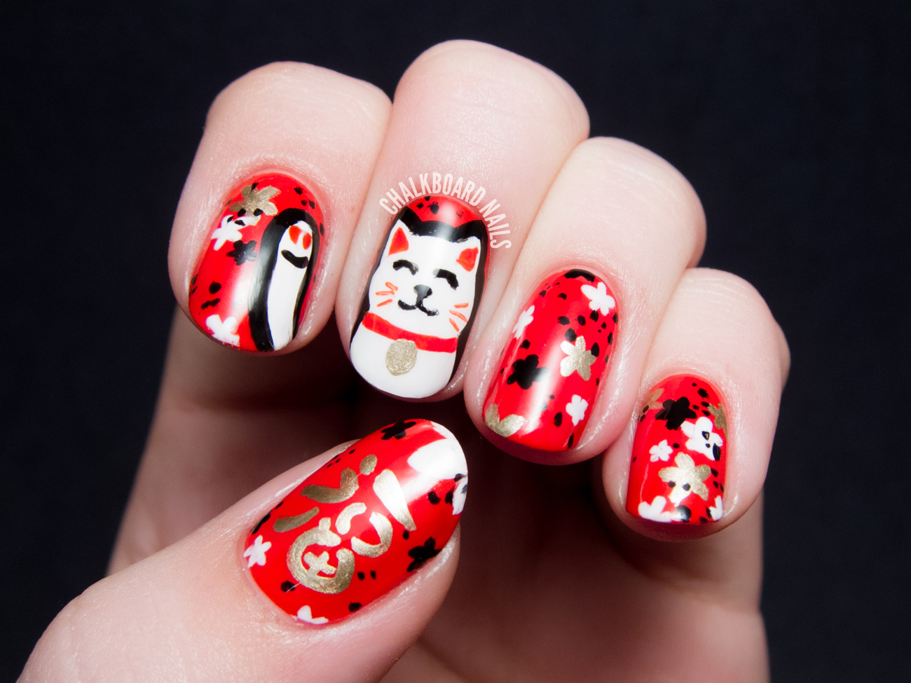 Chinese New Year Monkey Nail Art Design The Best Inspiration For