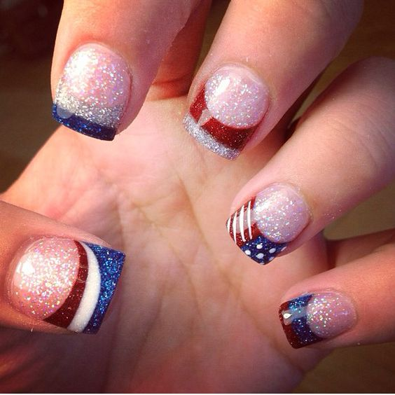 15 patriotic nail art ideas for the 4th of july thethings
