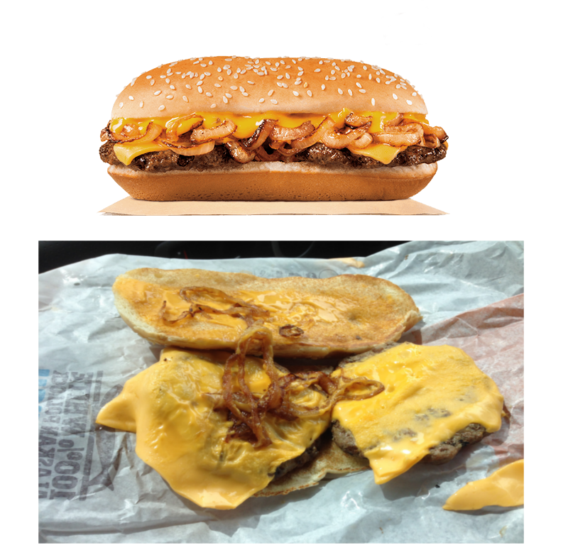 15 shocking photos of fast food advertisements versus for Lean cuisine vs fast food